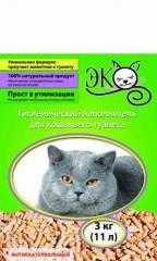 Древесный наполнитель для домашних животных ЕКО