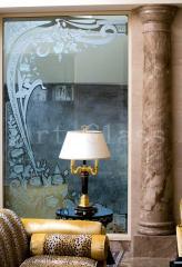 Стекло интерьерное, интерьер из стекла, витражи, стеклянные панно, стеклянный пол, вставки из стекла - авторский дизайн, разработка и изготовление по индивидуальным заказам