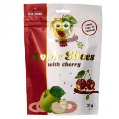 Фруктовые чипсы с вишневым соком Apple Slices, 33