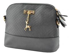 Модная женская сумка Бэмби Серая