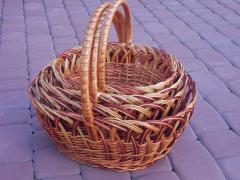 Baskets are easter. Products from a rod
