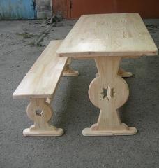 Стол садовый из натурального дерева из комплекта