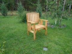 Кресло садовое деревянное