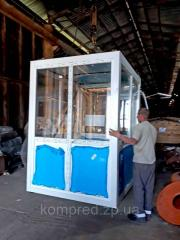 Шумоизоляционная кабинка с установленным...