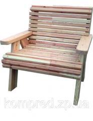 Стул деревянный садовый со спинкой № 1