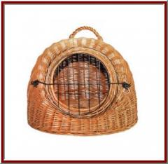 Basket, cage, lodge for animals.