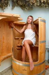 Phytobarrel, phytosteam sauna, cedar barrel of