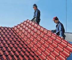 The metal tile is roofing