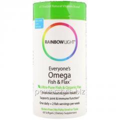 Омега жирные кислоты, Omega Fish & Flax Oil,