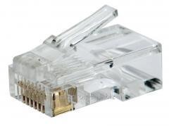Штекер компьютерный 8р8с (RJ-45) CAT 6,  100...