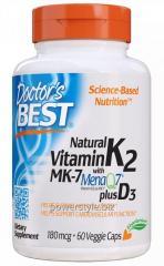 Натуральный витамин K2 MK-7 с MenaQ7 и витамином