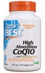 Коэнзим CoQ10 с биоперином, High Absorption CoQ10 with BioPerine, Doctor's Best, 100 мг, 360 капсул