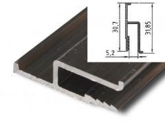 Профиль для натяжных потолков h образный усиленный