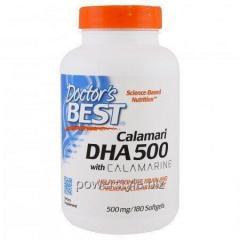 Препарат DHA (докозагексаеновая кислота) глубоководный 500 мг, Doctors Best, 60 желатиновых капсул