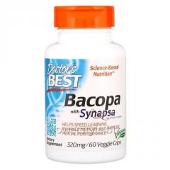 Бакопа, Bacopa (With Synapsa), Doctor's Best, 320 мг, 60 капсул