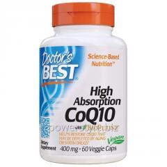 Коэнзим Q10 высокой абсорбции, CoQ10 with BioPerine, Doctor's Best, 400 мг, 60 желатиновых капсул