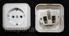 Розетка наружной проводки 16А 220В керамическая с