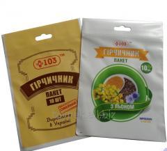 Пакети поліпропіленові з логотипом і липкою стрічкою