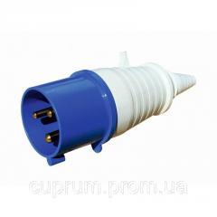 Вилка РС -012 2 полюси + PE 16А 230В IP44...