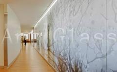 Partitions glass on an aluminum framework