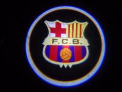 ЛАЗЕРНЫЙ ПРОЕКТОР ЛОГОТИПА В ДВЕРИ F.C.B.(F.S.Barselona)