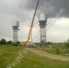 Башни водонапорные  150, 200, 300, 500 м.куб