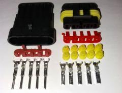 Разъём герметичный 5 pin . Комплект