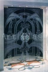 Перегородки распашные стеклянные