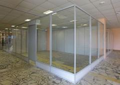 Glass partitions for trade rooms and shopping