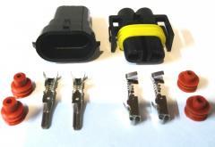Разъём 2 pin герметичный H11+H8.Комплект