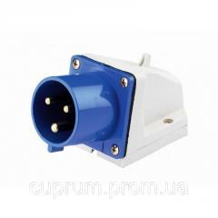 Вилка РС -015 3 полюси +PE+N 16А 400В IP44...