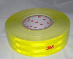 Светоотражающая лента 50 мм. Жёлтая.Рулон.Отличное