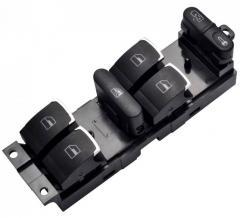 Блок кнопок стеклоподъемников Volkswagen VW, Skoda, Golf, Passat 1J4959857, 3BD959857, 7M4959857 хром