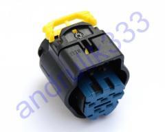 Разъём ДМРВ герметичный 5 pin. с синей вставкой