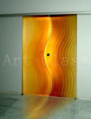 Doors decorative glass according to individual