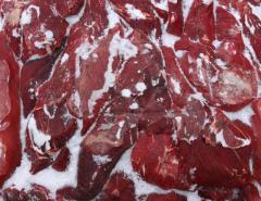 Beef block deep freezing of the premium