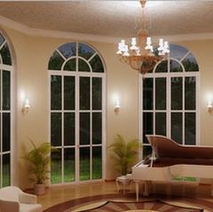 Двери арочные из стекла