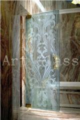 Doors pendular glass