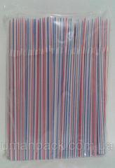 Трубочка Полоса d4.8-21см с гофрой (200 шт) заходи
