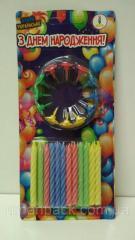 Свечи для торта Цветные 24шт (1 пач) заходи на