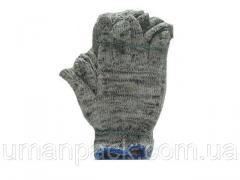 Хозяйственные перчатки плотные Х/Б серые (10кл/3н)