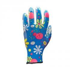 Перчатки женские нейлоновые с нитриловым покрытием