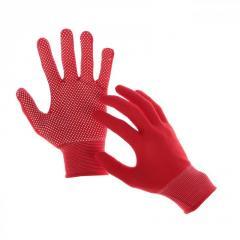 Перчатки рабочие нейлоновые с микроточкой пвх