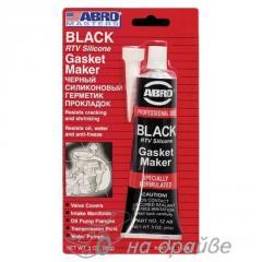 Герметик прокладок черный 85г ABRO 12-AB CH