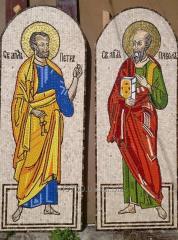Фрески церковные из мозаики, смальта золото мрамор