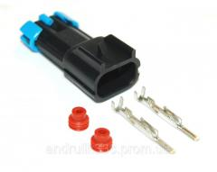 Разъём 2 pin вентилятора печки,стеклоподъёмника ВАЗ 2110,1118,2123 и др.
