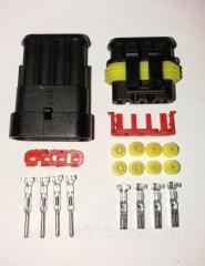 Разъём герметичный 4 pin.10 комплектов