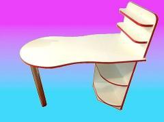 Маникюрный стол двухцветный ,стол для маникюра с
