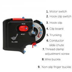 Электрическое устройство вязания крючков №525