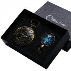 Карманные часы с медальоном YISUYA №66